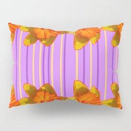 Orange-Yellow Daffodils Lilac Vision Pillow Sham