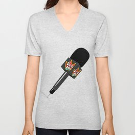 The Original Sez Me microphone Unisex V-Neck
