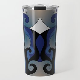 Beachy Swirls Travel Mug