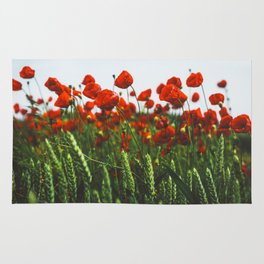 Poppy Flowers Rug
