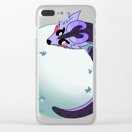 Beta on the moon Clear iPhone Case
