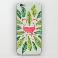 general iPhone & iPod Skins featuring Flamingos by Cat Coquillette