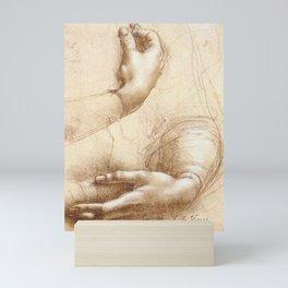 Da Vinci Study of hands Mini Art Print