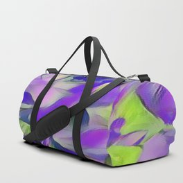 Heavenly Rose Petals Abstract - Purple Duffle Bag