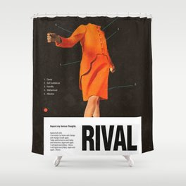 Self Rival Shower Curtain