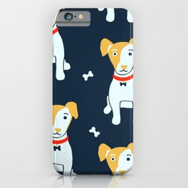 Jack Russell terrier - blue  iPhone Case