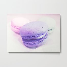 macaroons pink lavender Metal Print