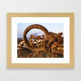 "ANCHOR - ENCORE - Trapani - Sicily - ""Vacancy"" zine Framed Art Print"