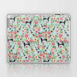 Great Dane dog breed florals mint pattern print for dog owner with great dane must have gifts Laptop & iPad Skin