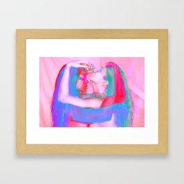 Neon Females Framed Art Print