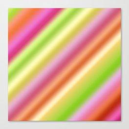 Tutti Fruity Diagonal Striped Pattern Canvas Print