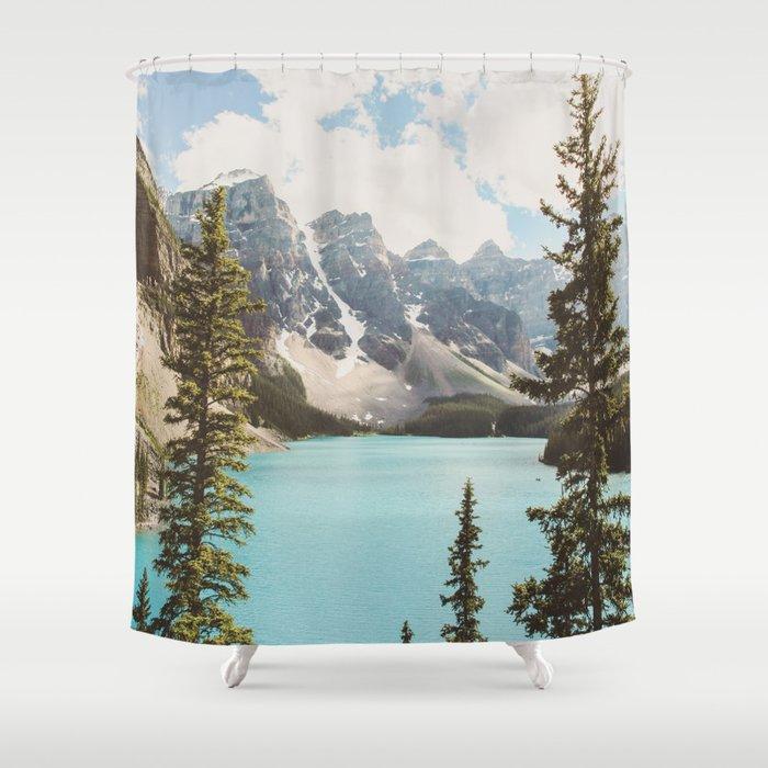 Moraine Lake II Banff National Park Shower Curtain