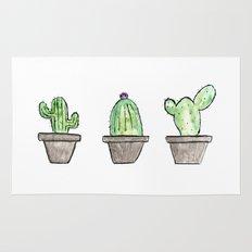 3 types of cactus Rug