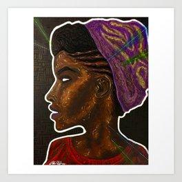 SHE (blk) Art Print