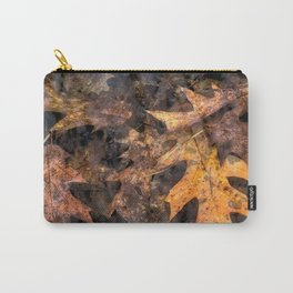 Leaves in a Rock Pool Carry-All Pouch