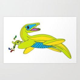 Rhomaleosaurus Art Print