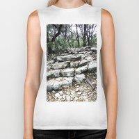 stone Biker Tanks featuring Stone by Casey Sprau