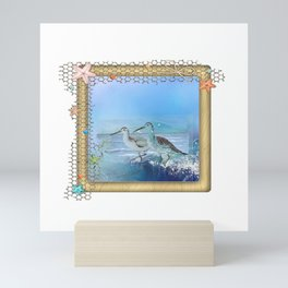 Sea Birds Sand Pipers Mini Art Print