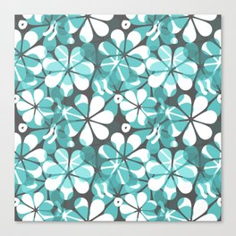 Turquoise Floral Canvas Print