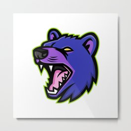 Tasmanian Devil Head Mascot Metal Print