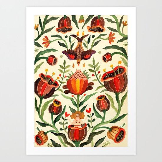 Singing Flowers - Day Art Print