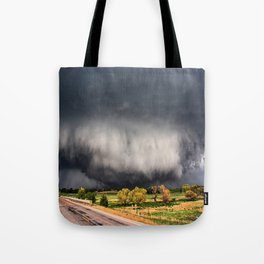 Tornado Day - Storm Touches Down in Northwest Oklahoma Tote Bag