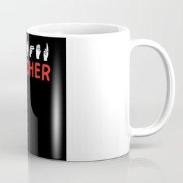 Asl Sign Language Teacher Deaf And Dumb Coffee Mug
