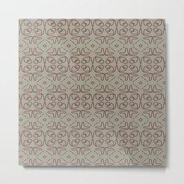 Minimal Lines Pattern 213 Metal Print