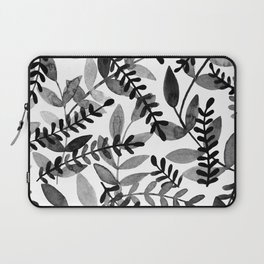Watercolor branches - black and white Laptop Sleeve