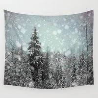 snow Wall Tapestries featuring Snow by Pure Nature Photos
