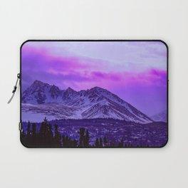 Chugach Mountains in Purple Laptop Sleeve
