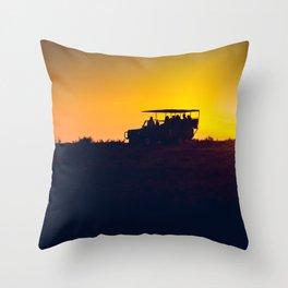 Morning African Safari Throw Pillow