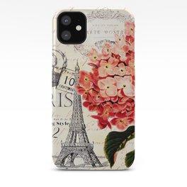 Paris and Hydrangea iPhone Case