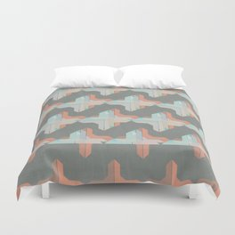 Escaping Repetition Duvet Cover