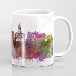 Edinburgh skyline in watercolor background Coffee Mug