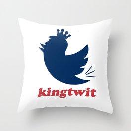 kingtwit. trump 2016 Throw Pillow