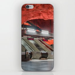 Solna Centrum Metro Station in Stockholm, Sweden III iPhone Skin