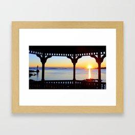 Fort Pickering Light at Sunrise Framed Art Print