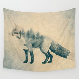 Fox and Forest - Shrinking Forest Wall Tapestry