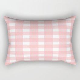 Pink Gingham Design Rectangular Pillow