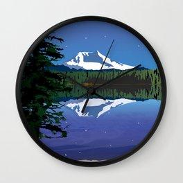 Mt Adams and Stars and Tree Wall Clock