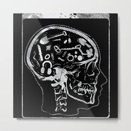 Metal Detector Brain X-ray Image Motif Metal Print