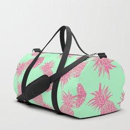 Pineapple Pattern - Mint & Crimson Duffle Bag