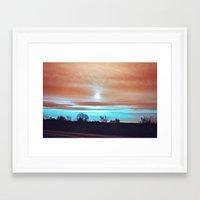 night sky Framed Art Prints featuring Night sky by J's Corner