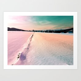 The field and the village Art Print