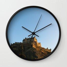 Edinburgh Castle from Princes's Garden Wall Clock