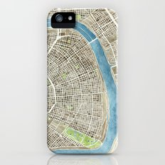 New Orleans City Map iPhone (5, 5s) Slim Case