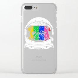 Astronaut Pug Clear iPhone Case