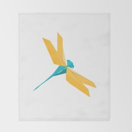 Origami Dragonfly Throw Blanket