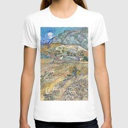 Landscape at Saint-Rémy by Vincent van Gogh T-shirt